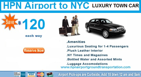 Hpn, Westchester County airport Town car services